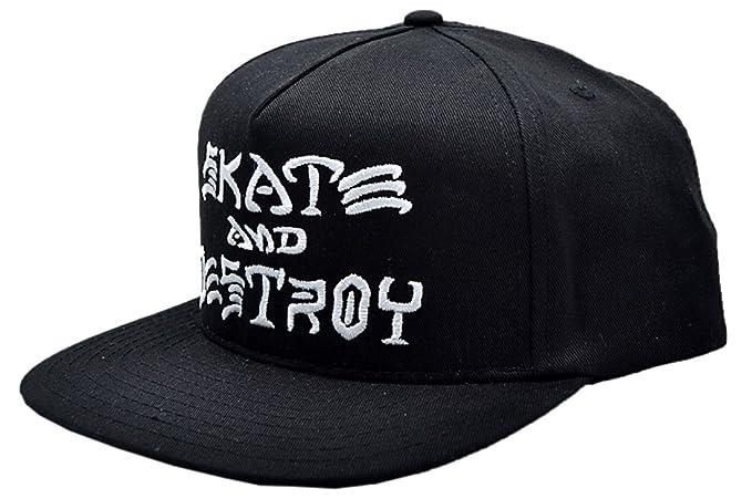 THRASHER - Gorra con Cierre de presión y Texto en inglés Skate & Destroy, Color