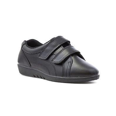 Free Step Schwarzer Lederner Komfort-Schuh der Freestep Frauen - Größe 5 UK/38 EU - Schwarz LpSuDj