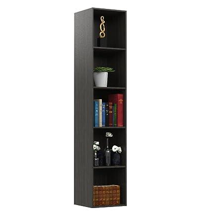Forzza Regina Bookshelf Tallisa Oak,Dark Oak