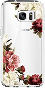 Flyeri Samsung Galaxy S6 Case,Flower Clear Soft TPU Phone Case for Galaxy S6(11)