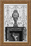 Fireplace: In a garland frieze between two eagles above the plane of a clock 19x24 Gold Ornate Wood Framed Canvas Art by Piranesi, Giovanni Battista