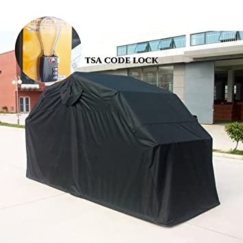 Quictent Heavy Duty Motorcycle Shelter Tourer Cover Storage Garage Tent with TSA Code Lock /& Carry Bag Large Size