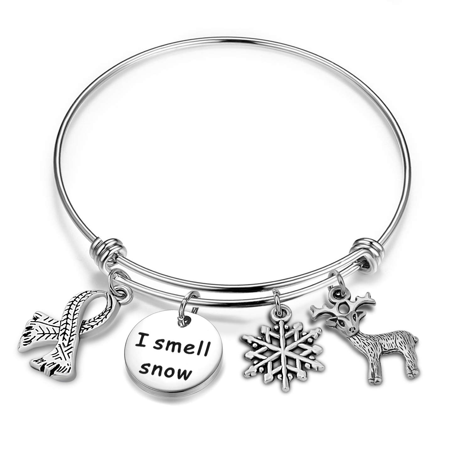 SEIRAA Christmas Bracelet I Smell Snow Holiday Jewelry Winter Gift Her