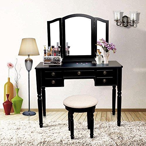 Black Bedroom Vanity - 4