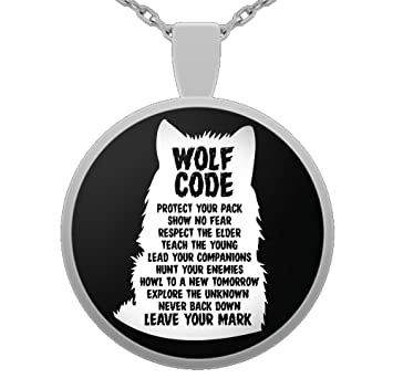 Amazon wolf code native american spirit wolf pendant wolf code native american spirit wolf pendant necklace inspirational gift for men and aloadofball Images