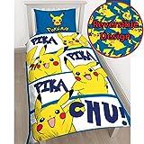 Pokémon Pikachu Single/US Twin Duvet Cover and Pillowcase Set
