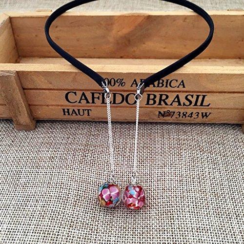 (Original hand-painted glass beads tassel hanging ear hair bands headband headdress no pierced earrings earrings long section)