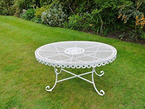 Style victorien vintage style antique en métal Blanc ovale ...