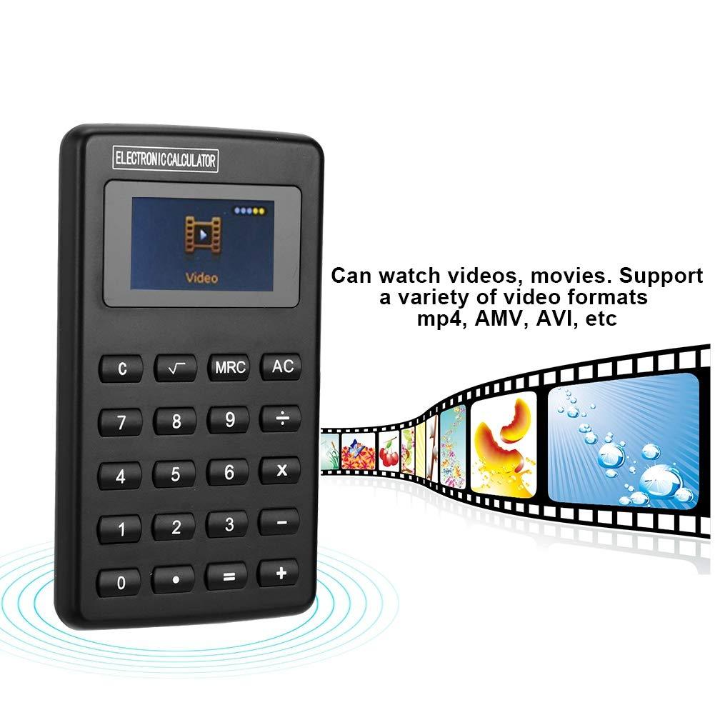calcolatrice Home Office calcolatrice Multifunzione Ricaricabile MP4 da 1,8 Pollici con Auricolare e-Book//Radio FM//Funzione Lettore Video//Musica Denash Calcolatrice Scheda di Memoria 8G