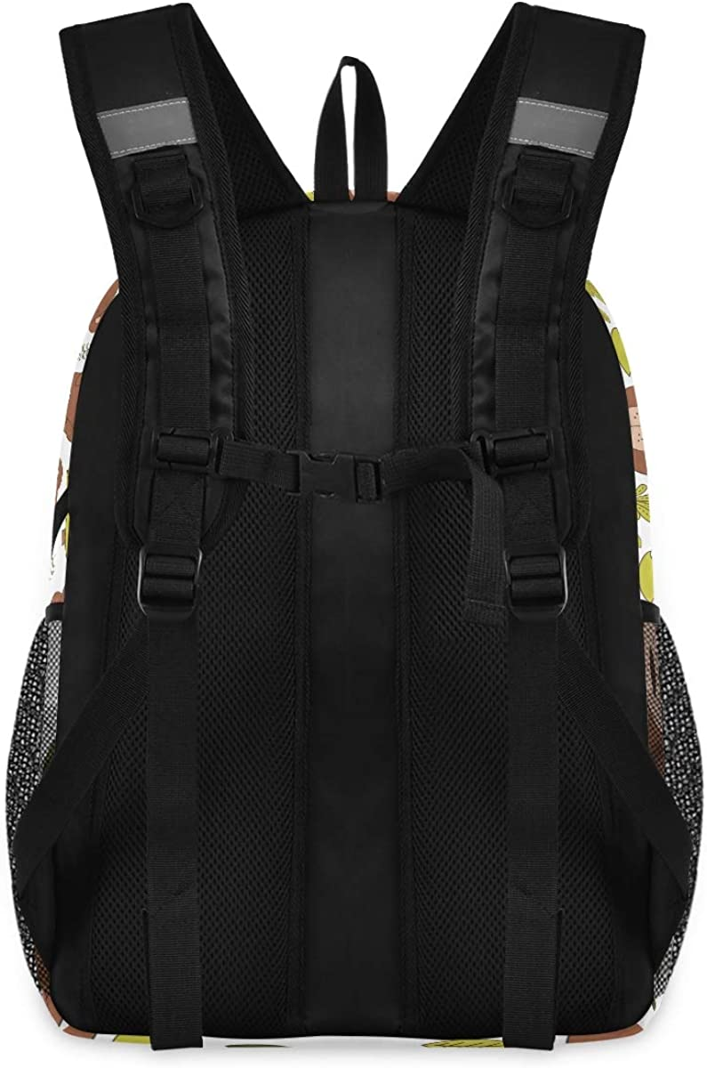 Forest Animal Flowers College School Computer Bag Gifts for Men /& Women Lightweight Anti Theft Durable Backpack Travel Laptop Backpack