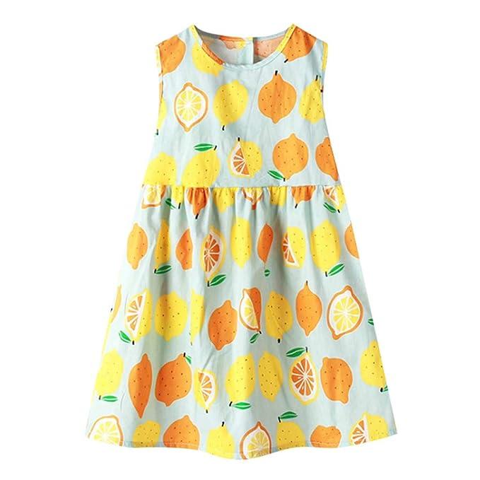 c4f7bbf772 Amazon.com: Hstore🌸 Girls Children's Sleeveless Floral Fruit Stripe ...