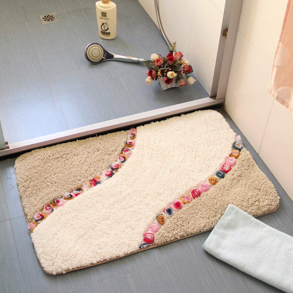 GoDeal Square Shockproof Floor Mat for Kitchen Bathroom Anti-Slip Water Absorption Carpet with Cute Printing for Living Room Bedroom Dining Room