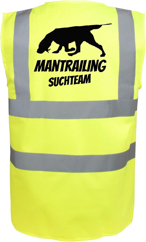 L, Pink Motiv 6 Mantrailing Warnweste Hundesport Sicherheitsweste Suchteam