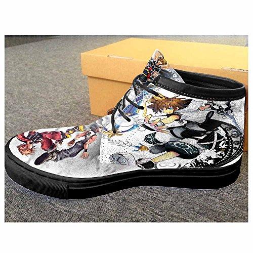 Kingdom Hearts Unisex Sneaker Shoes Disney Video Game Cus...
