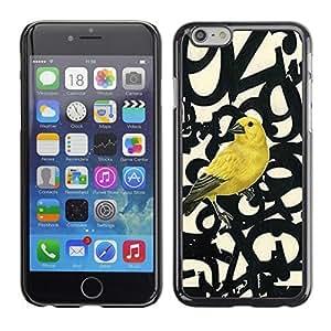 ka ka case unique design personality Bird Letters Numbers Text Beige -iPhone 6 Plus 5.5