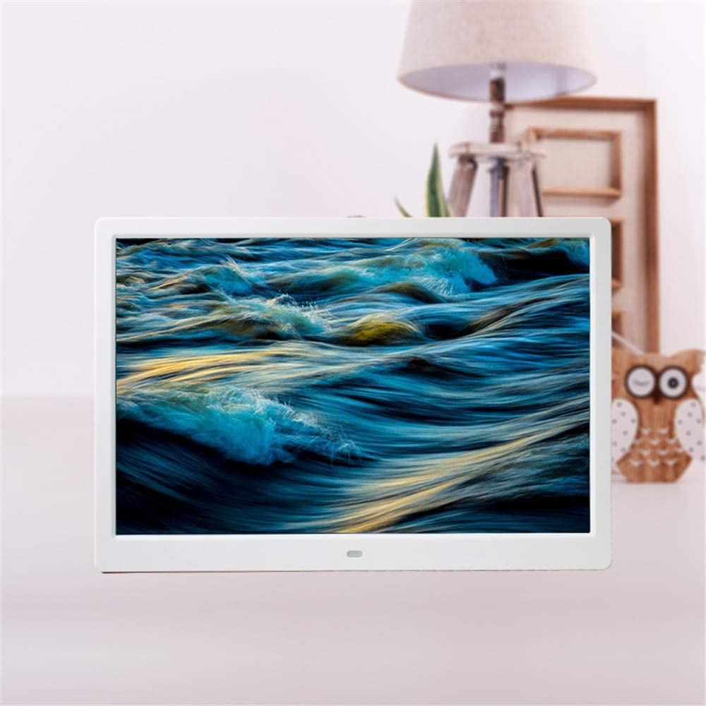 Unique UI Design with Remote Control CWHALE Digital Photo Frame,1280x800 High Resolution Full IPS Photo//Music//Video Player Calendar Alarm Auto On//Off Timer