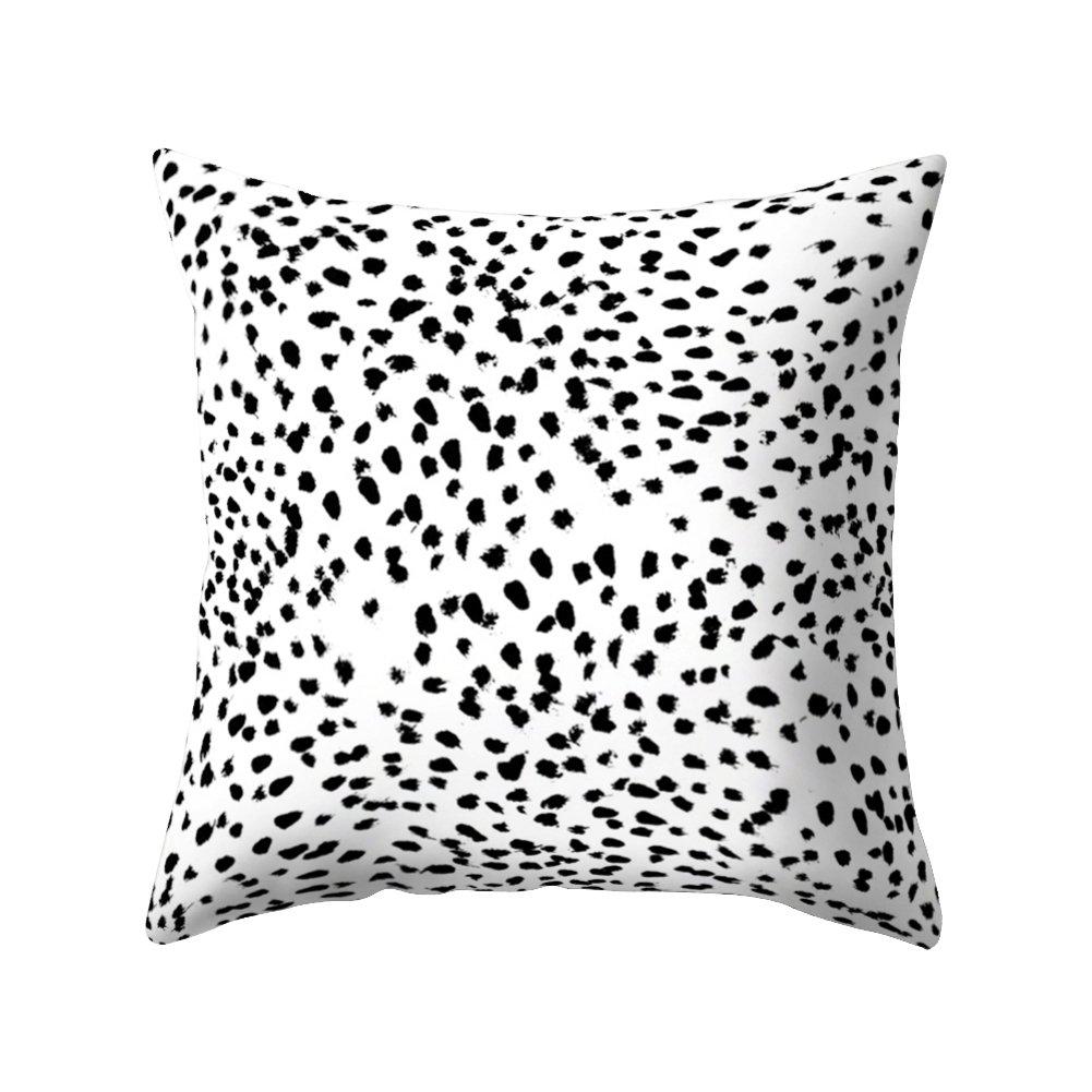 pu ran Black And White Cactus Flamingo Print Pillow Case Waist Throw Cushion Cover Bedroom Decor - 1#