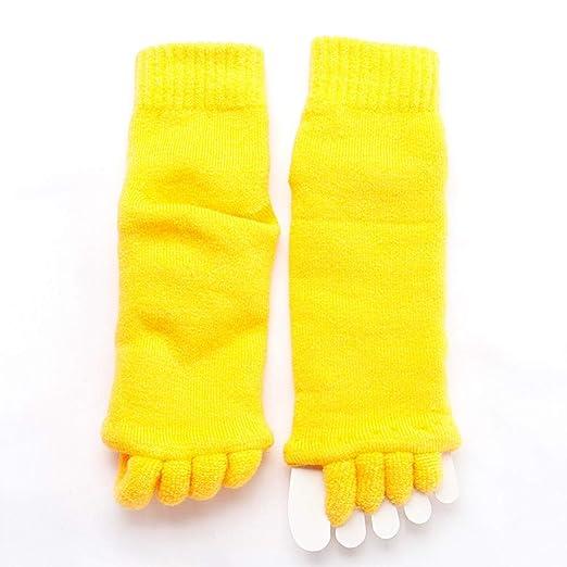 Calcetines de yoga Separador de cinco dedos Calcetines ...