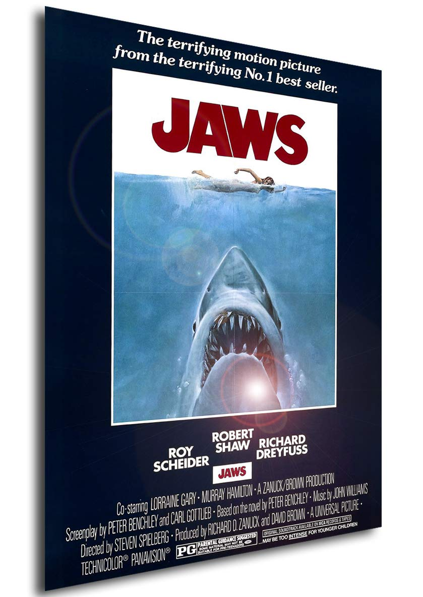 Instabuy Posters Poster - Jaws - Format (42x30 cm): Amazon ...