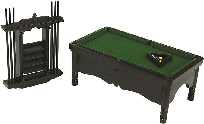 Amazon.es: Town Square Miniatures Miniatura para Casa de Muñecas 1:12 Pub Estudio Muebles Negro Piscina Billar Mesa Juego: Juguetes y juegos