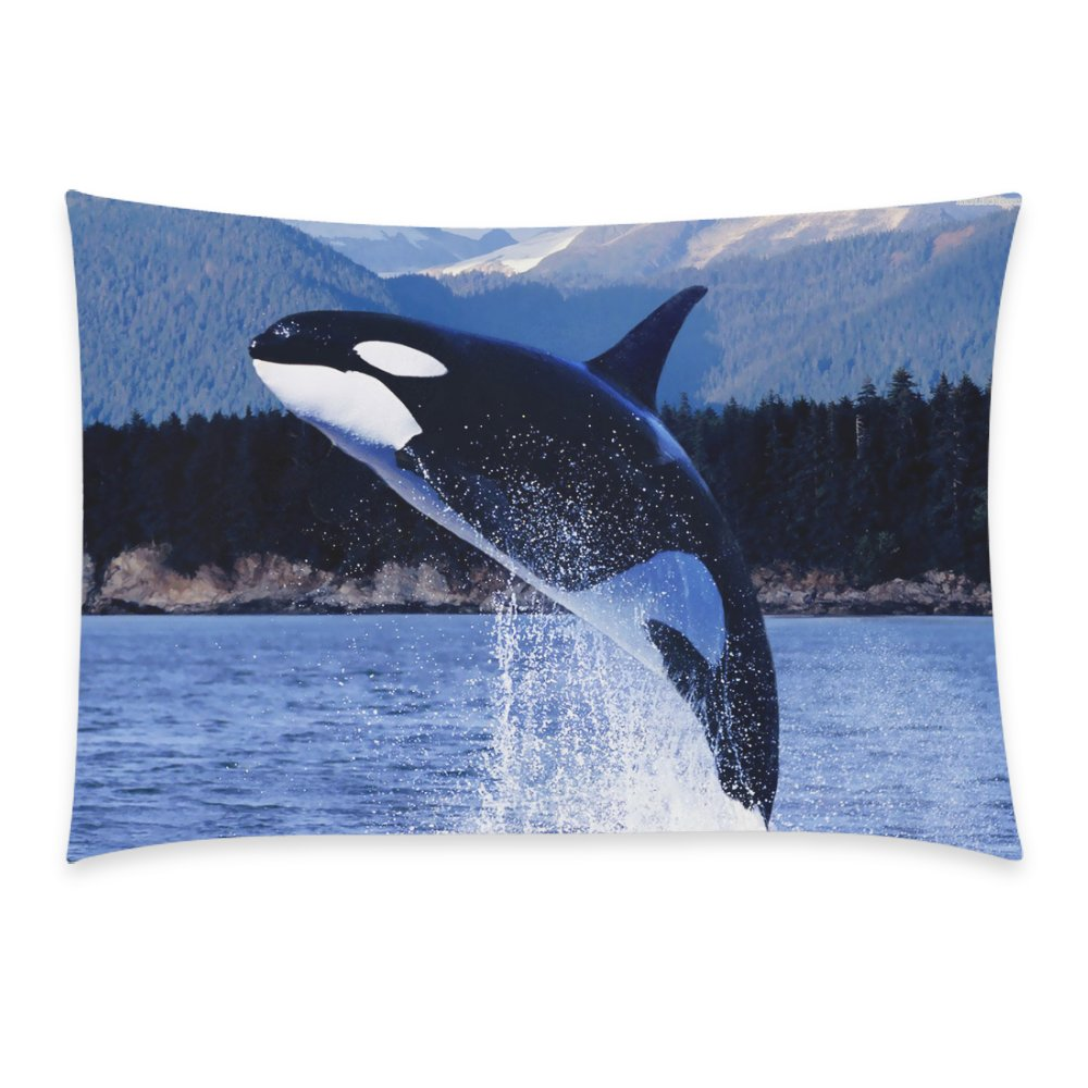 Orca Killer Whales Pillowcase - Pillowcase with Zipper, Pillow Protector, Best Pillow Cover - Standard Size 20x30 inches, One-sided Print 20x30 inch Pillowcase