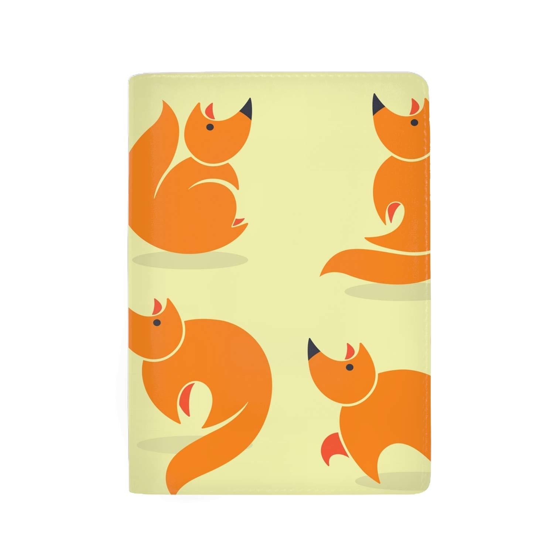 Forest Bear Leather Print Passport Holder Cover Case For Men Women