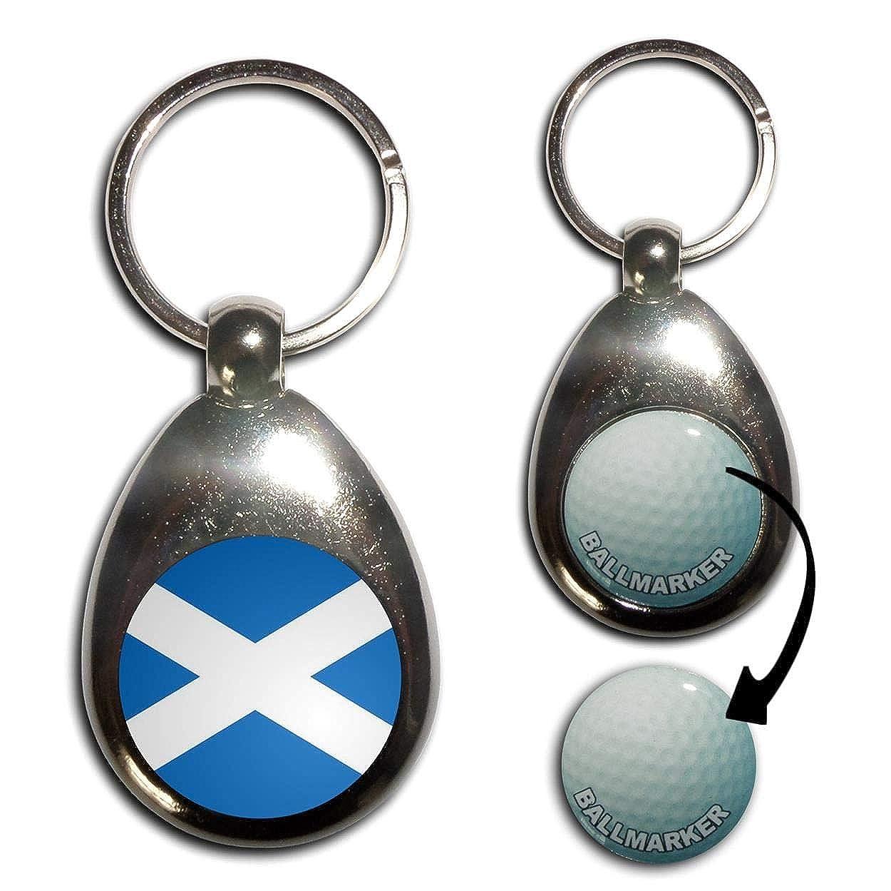 Amazon.com: Bandera de Escocia – Llavero marcador de pelotas ...