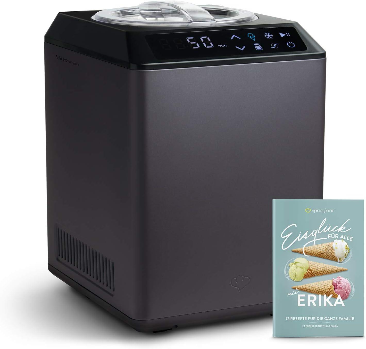 Heladera yogurtera 2 en 1 ERIKA con compresor de refrigeración y ...
