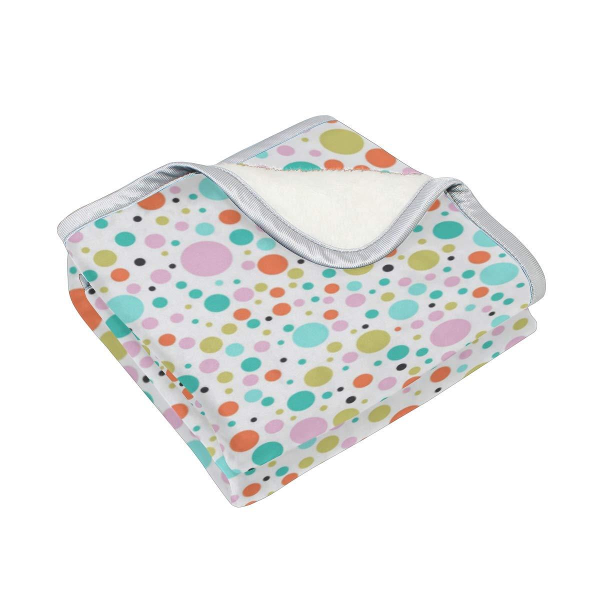 Amazon.com: CIXUAN Colorful Dots Print Throw Blanket Comfort ...