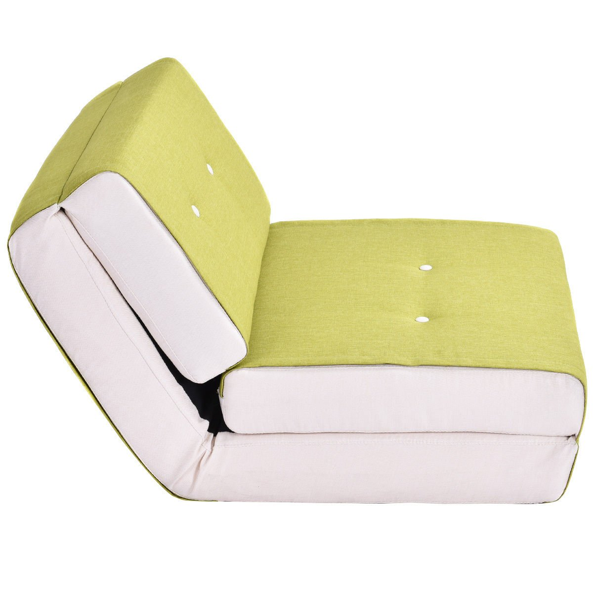 Fold Down Chair Flip Out Lounger Convertible Sleeper Bed Couch Game Dorm Green by Tumsun (Image #3)