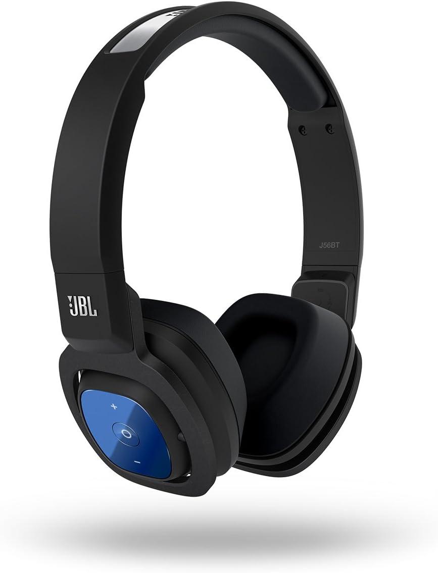 Amazon Com Jbl J56 Bt Bluetooth Wireless On Ear Stereo Headphone Black Home Audio Theater