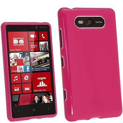 igadgitz Rosa Case TPU Gel Funda Cover Carcasa para Nokia Lumia ...