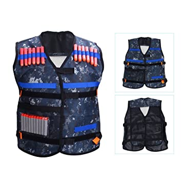 Amazon adjustable elite padded tactical vest with storage adjustable elite padded tactical vest with storage pocket for nerf n strike elite series blasters sciox Image collections