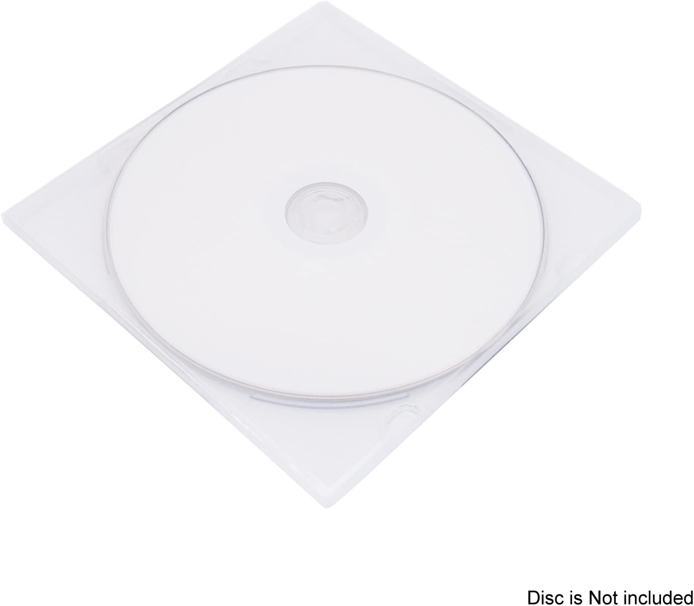 100 cajas transparentes para CD 5.2mm Slim Single clear