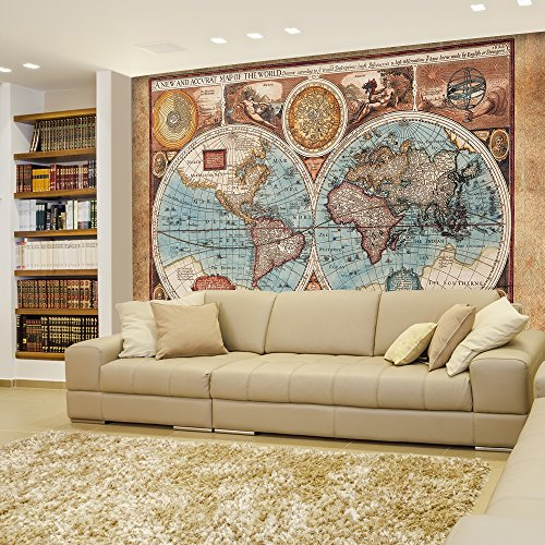 2016 newest world map wall mural removable wallpaper wall murals you may also like about this product wall26 2016 newest world map wall mural removable gumiabroncs Images