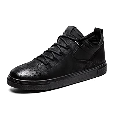 Shoes Mens Casual Shoes Low-Top Sneakers Breathable Lace-up Deck Boat Shoes (Color : Black Size : 40)