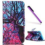 5S Case,iPhone 5 Case,EMAXELER Creative Painted PU Leather Case Cover for iPhone 5/5S,Flip Wallet Case Holder Protective Case with Card Slots and Stand for iPhone 5/5S Maple