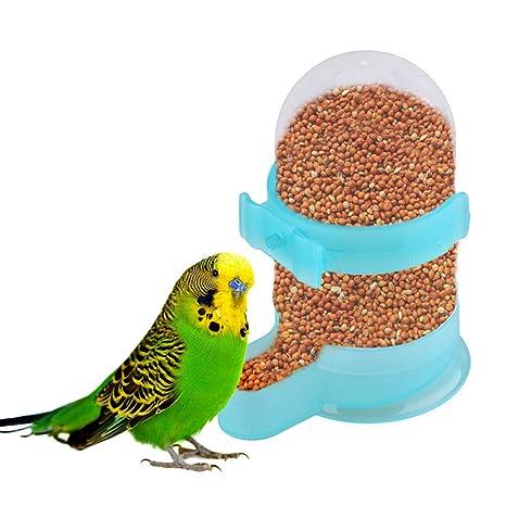 yunt alimentos alimentador automático dispensador de agua dispositivo de alimentación para mascota pájaro paloma loros jaula
