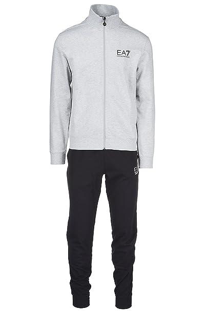 Emporio Armani EA7 chándal con pantalones y sudadera fashion hombre nuevo gris EU XXL (UK