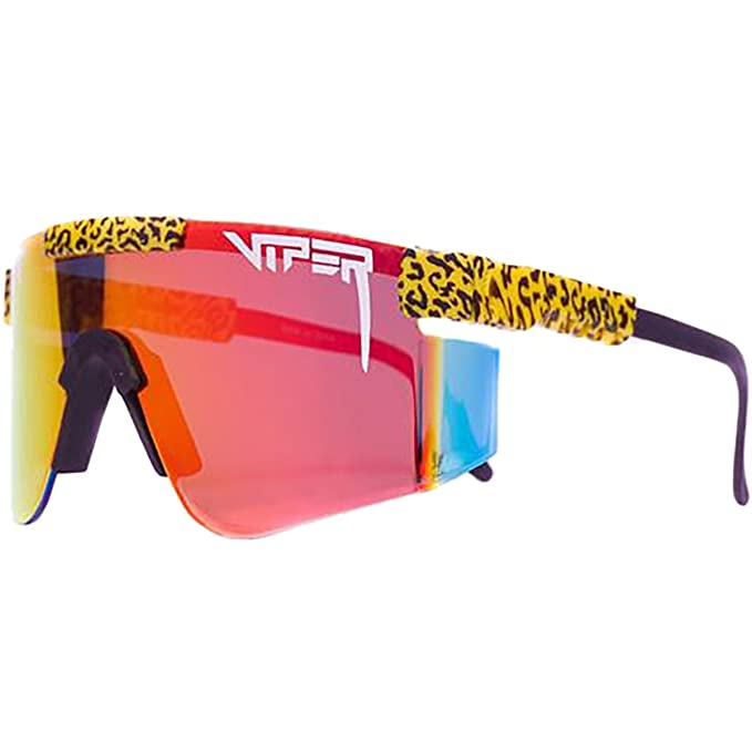 693f98ee3a0 Pit Viper Mirrored Lens Sunglasses The Carnivore (Red