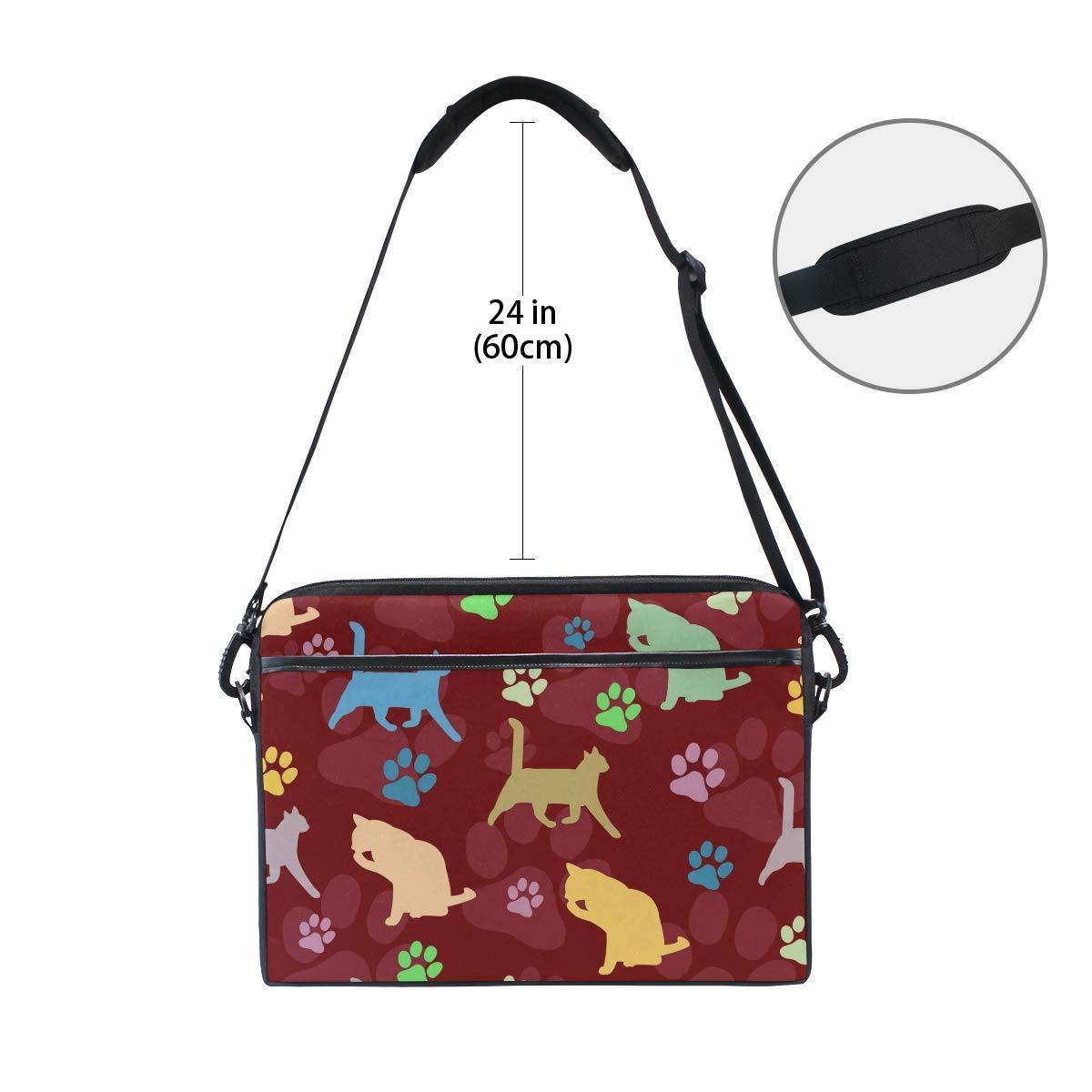 imobaby Purple Beautiful Flower Design Laptop Messenger Shoulder Bag Notebook Sleeve Carrying Briefcase Handbag 15-15.4 inches