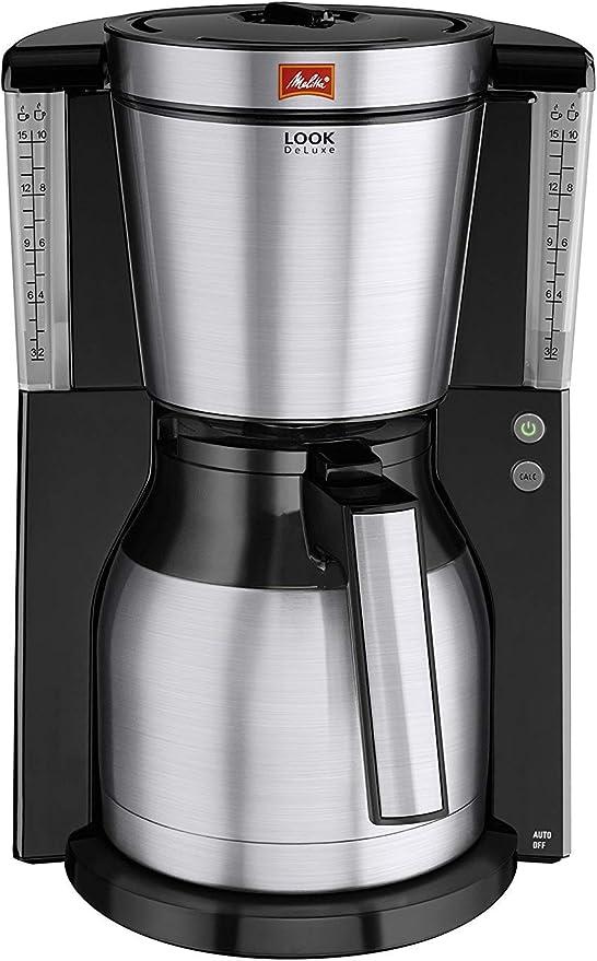 Melitta Look Therm Deluxe Cafetera de Filtro, 1000 W, 1.25 litros ...