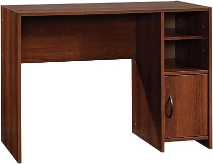 Un pequeño escritorio en madera acabado en cerezo hace grandes ...