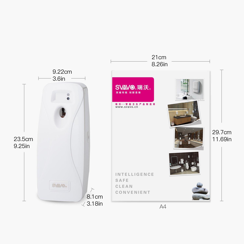 SVAVO V-251 ABS Plastic Automatic Aerosol Dispenser Air Freshener Spray Dispenser, White, Pack of 1 by SVAVO (Image #2)