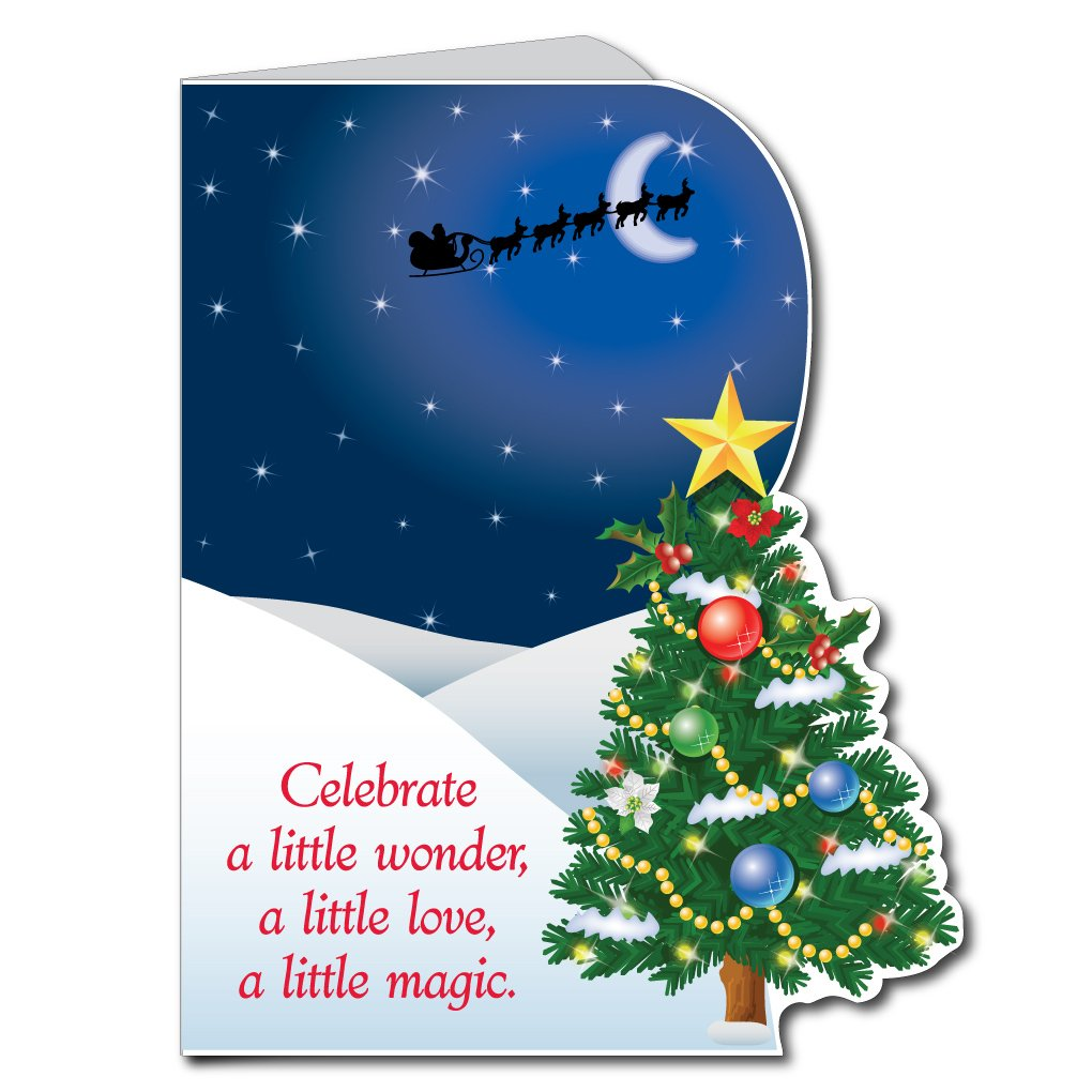 Amazon 2x3 Giant Christmas Card Die Cut Christmas Tree W