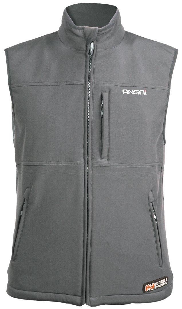 Mobile Warming Classic Vest Heated Textile Men's Motorcycle Heated Vest (Gun Metal, XX-Large)