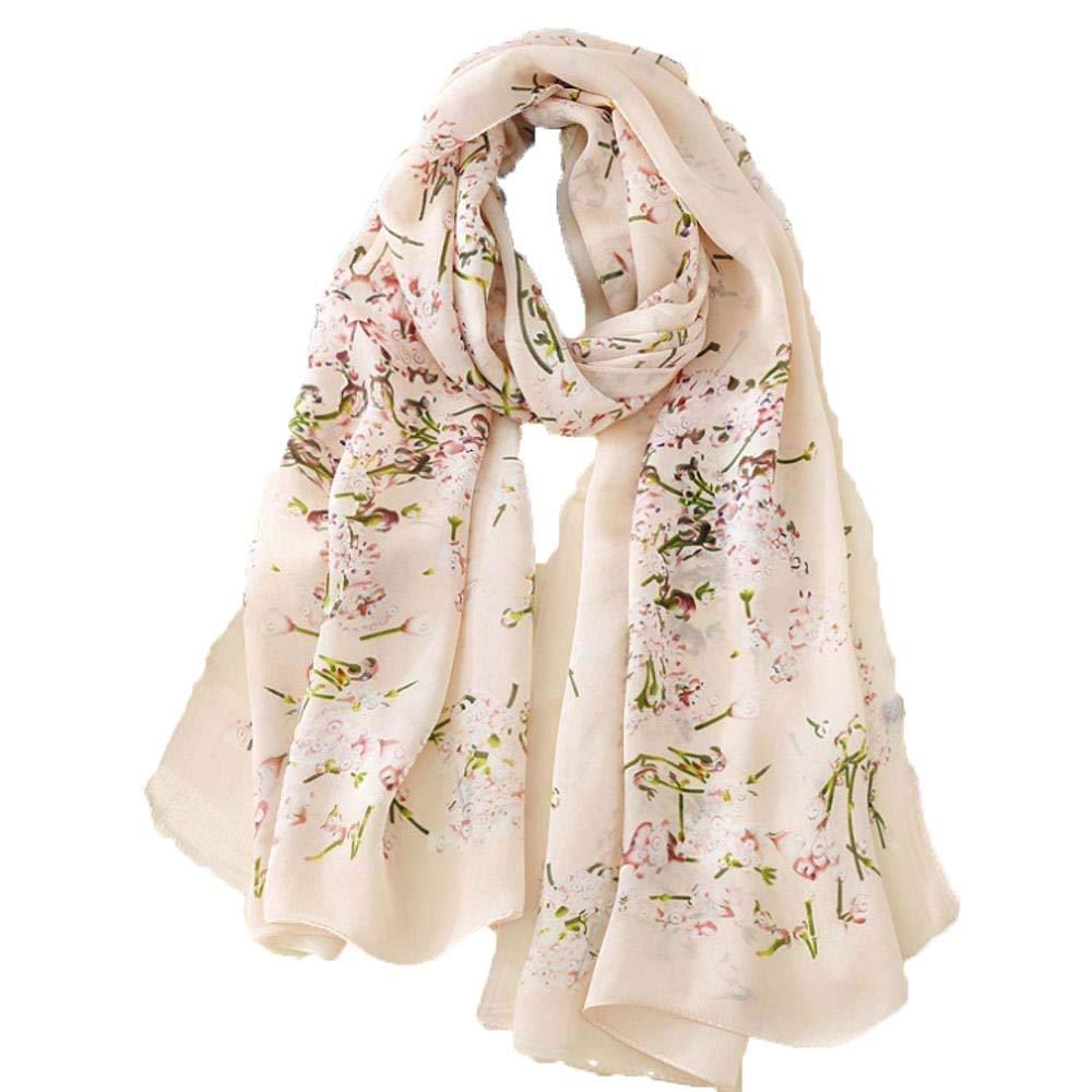 Weiwei Ladies Silk Shawl Silk Scarf Send Friends and Family Birthday Gift 180CM65CM