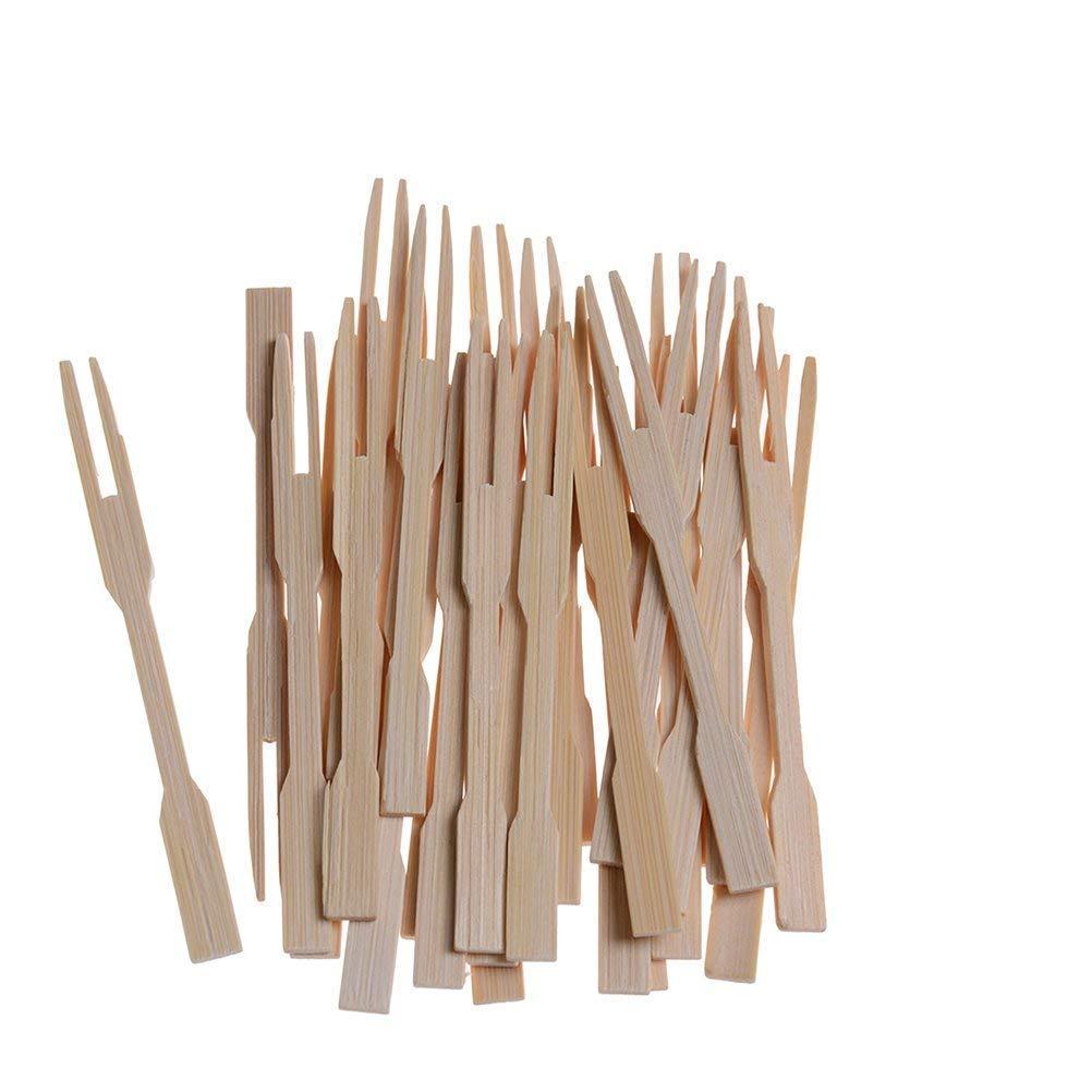 SuxiDi 100/pcs 8,9/cm en bambou f/ête fourchettes Mini fourchettes Buffet Fruit Picks