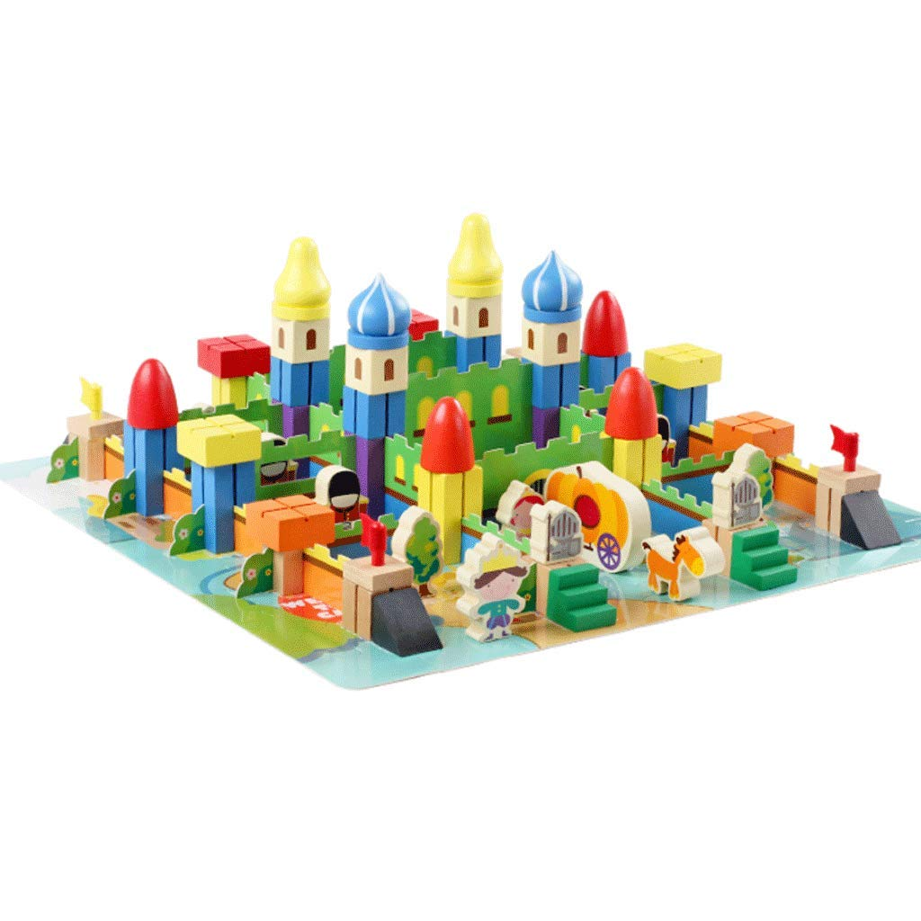 Castle Theme Building Blocks Tragbare 22 × 28cm Junge Mädchen Pädagogisches Spielzeug B07KT36RYK Holzpuzzles Online-Verkauf | Lass unsere Waren in die Welt gehen