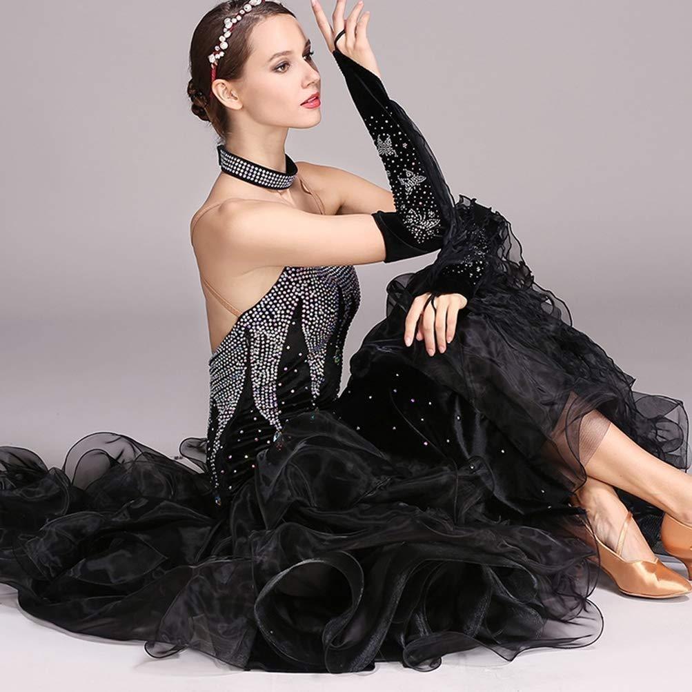 National Standard Ballroom Dance Kleider Für Frauen Frauen Frauen Wettbewerb Dancewear, Stickerei Strass Lange Ärmel Walzer Tango Dance Kostüm B07QKDB18V Bekleidung Modernes Design 7ab302